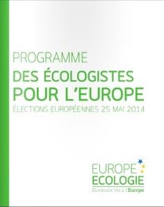 Programme Europe Ecologie 2014